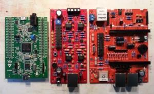 Evaluations-, Verstärker- und Controller-Board