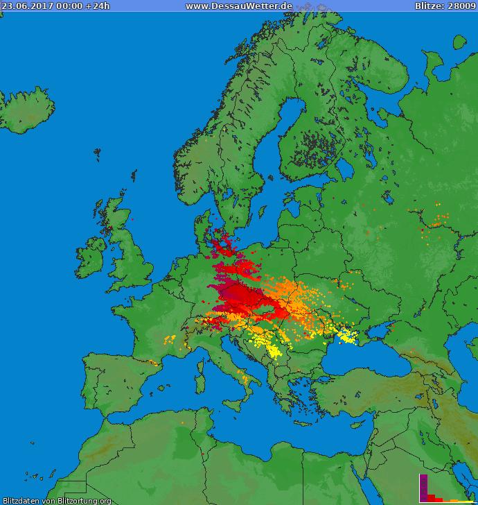 Blitzkarte Europa 23.06.2017