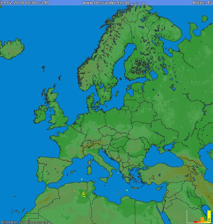 Blitzkarte Europa 19.02.2018