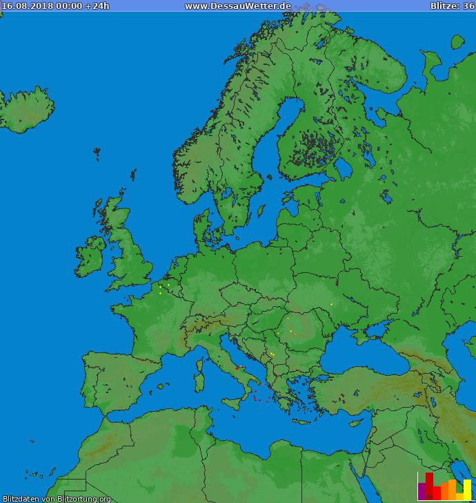 Blitzkarte Europa 16.08.2018