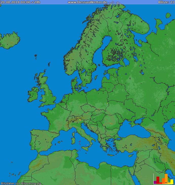 Blitzkarte Europa 20.08.2018