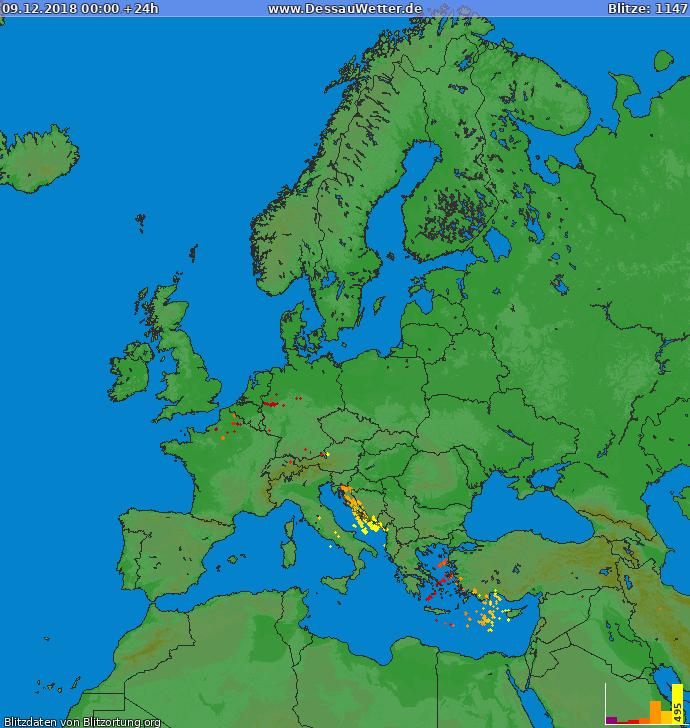 Blitzkarte Europa 09.12.2018