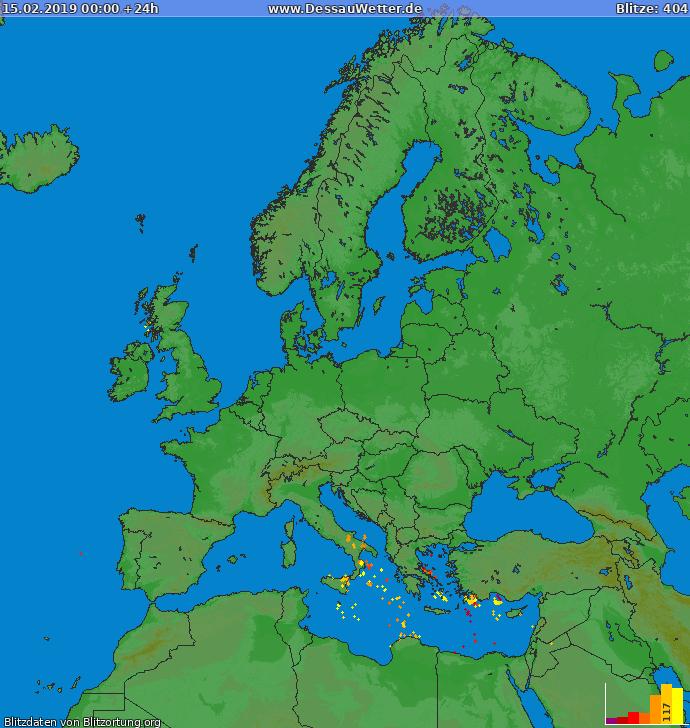 Blitzkarte Europa 15.02.2019