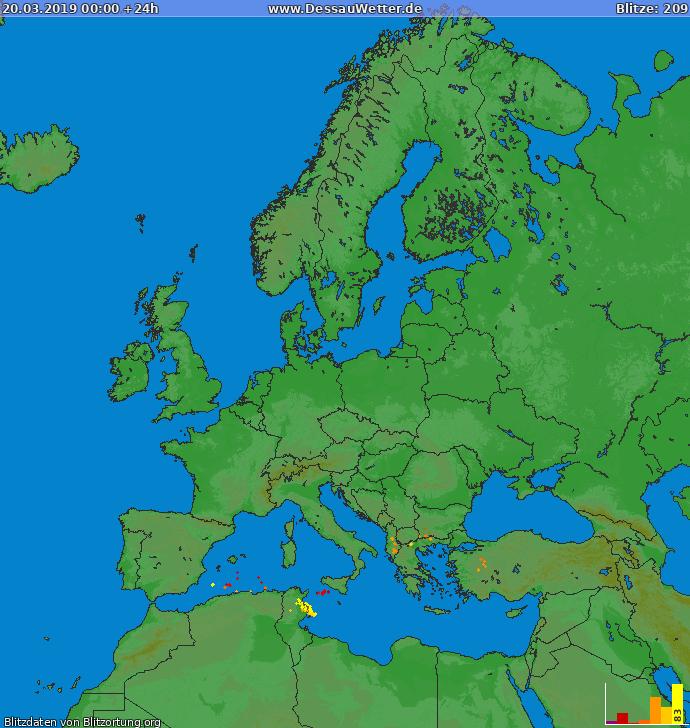 Blitzkarte Europa 20.03.2019