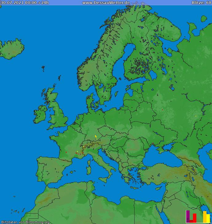 Salamakartta Eurooppa 2021-07-30