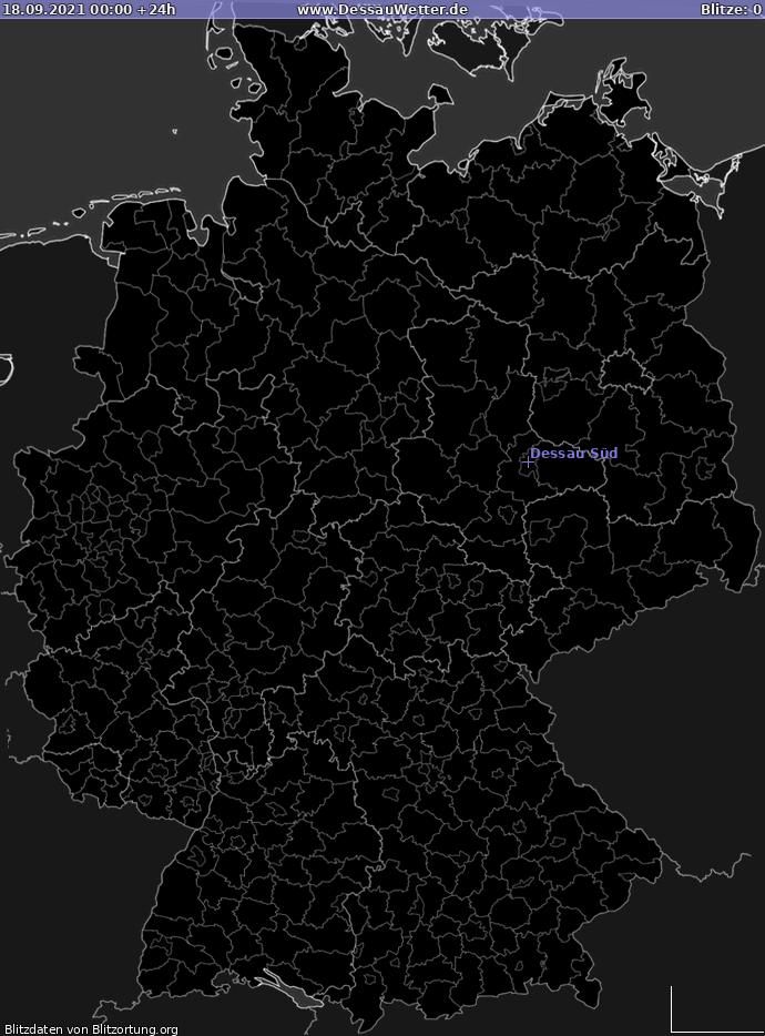 Lightning map Germany 2021-09-18
